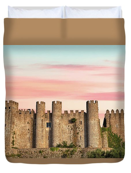 Medieval Castle Of Obidos Duvet Cover