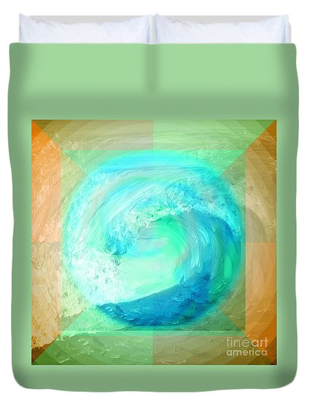 Ocean Earth Duvet Cover