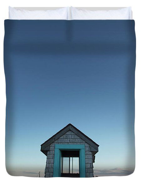 Outhouse, Matinicus Island, Knox Duvet Cover