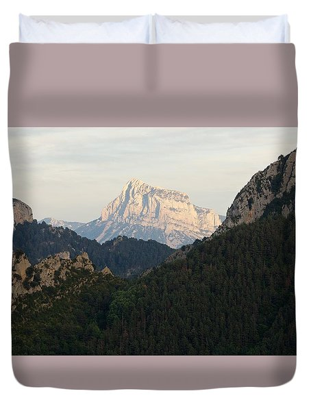 Duvet Cover featuring the photograph Pena Montanesa by Stephen Taylor
