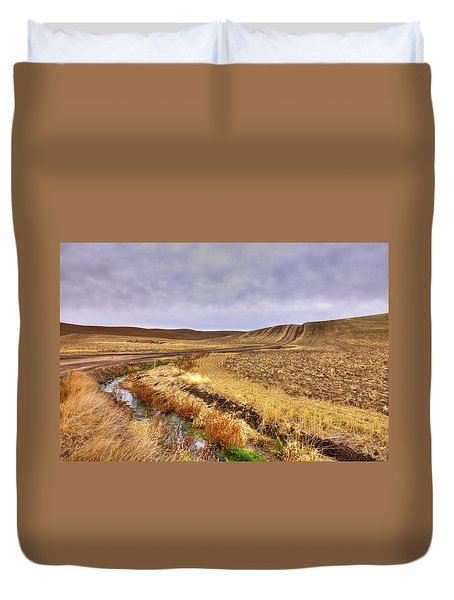 Duvet Cover featuring the photograph Plowed Under by David Patterson