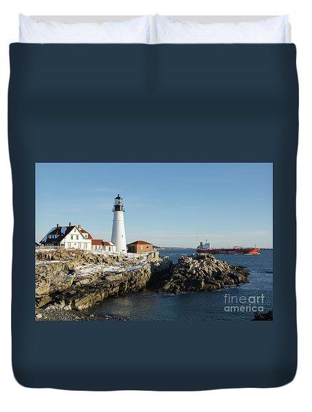 Portland Head Light - Cape Elizabeth, Maine Duvet Cover