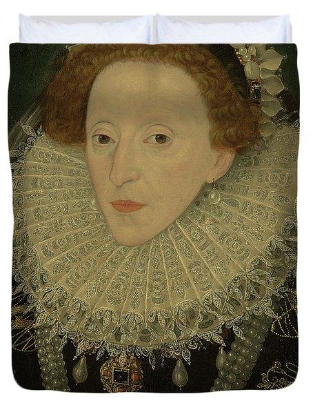 Portrait Of Queen Elizabeth I Duvet Cover