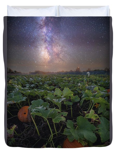 Duvet Cover featuring the photograph Pumpkin Patch  by Aaron J Groen