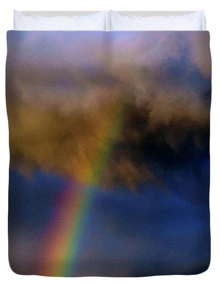 Rainbow During Sunset Duvet Cover