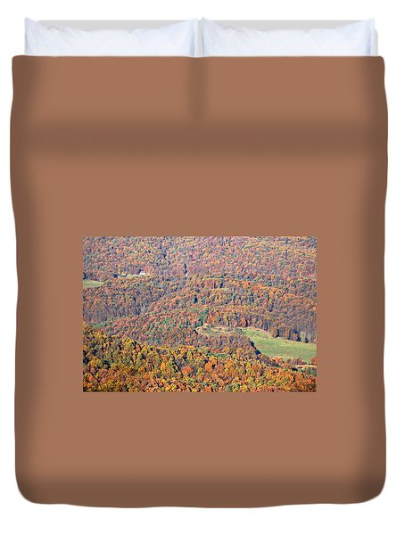 Duvet Cover featuring the photograph Rainbow Valley by Candice Trimble