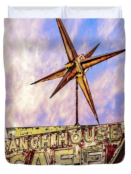 Ranch House Cafe Duvet Cover