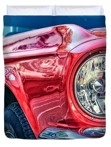 Duvet Cover featuring the photograph Red Vintage Car by Top Wallpapers