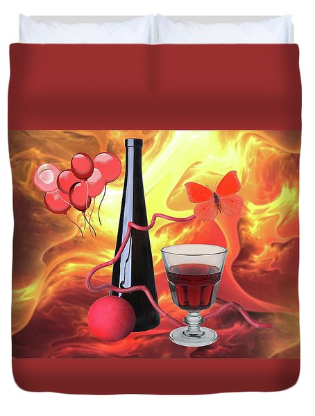 Red Wine 7 Duvet Cover