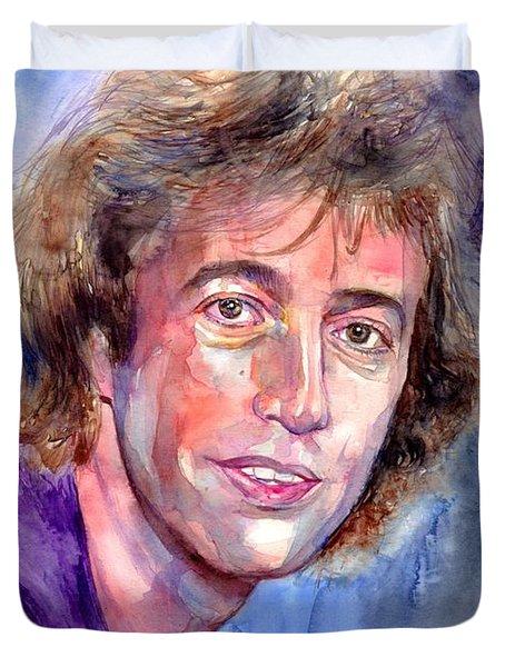 Robin Gibb Portrait Duvet Cover