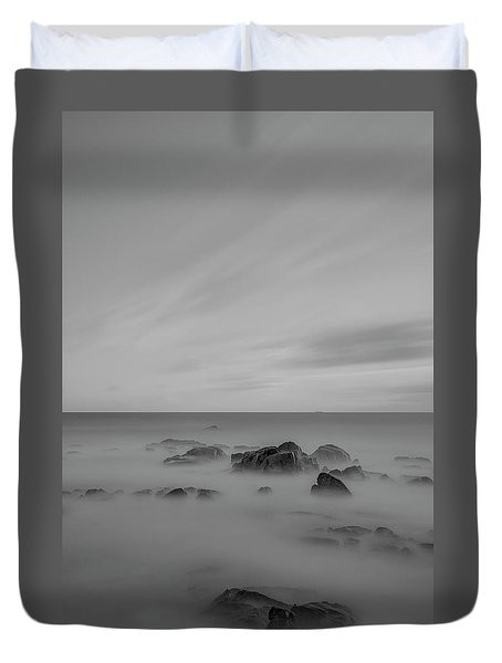Duvet Cover featuring the photograph Rocky by Bruno Rosa