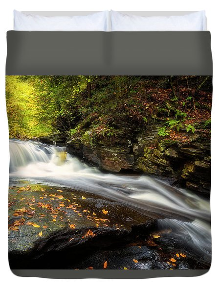 Duvet Cover featuring the photograph Rushed by Russell Pugh