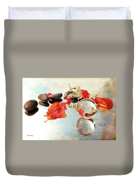 Duvet Cover featuring the photograph Seasons In A Bubble by Randi Grace Nilsberg