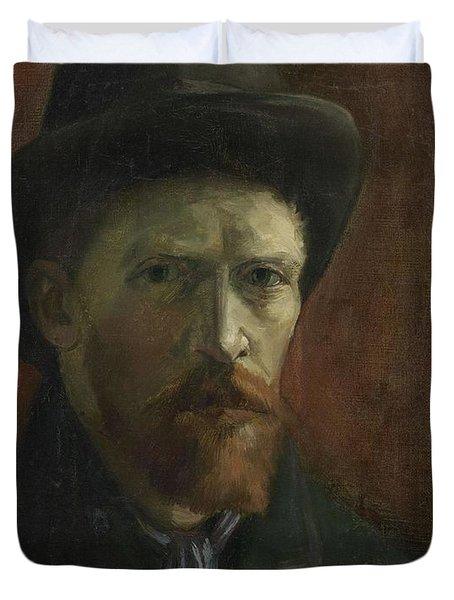 Self-portrait With Felt Hat Duvet Cover