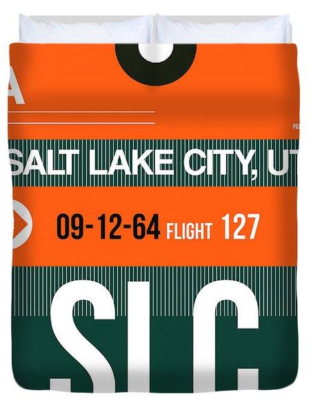 Slc Salt Lake City Luggage Tag II Duvet Cover