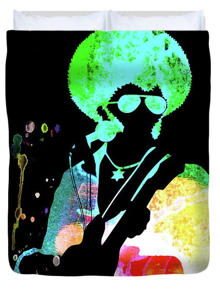 Sly And The Family Stone Watercolor  Duvet Cover