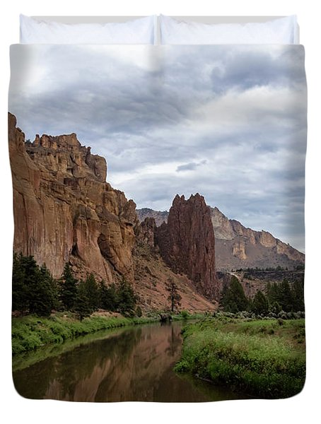 Smith Rock Reflections Duvet Cover