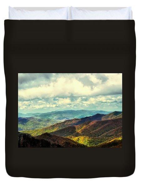 Smoky Mountain Memory Duvet Cover
