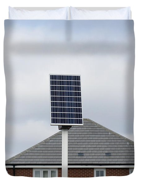 Solar Power Bus Stop Duvet Cover