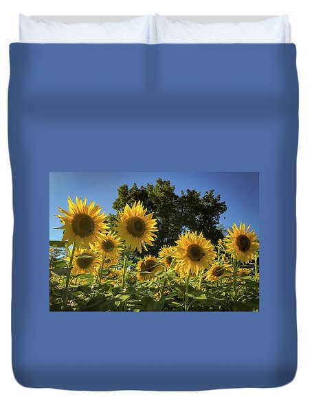 Sunlit Sunflowers Duvet Cover
