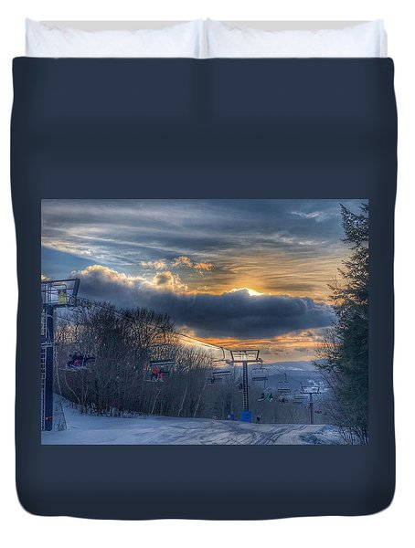 Sunrise At Okemo Mountain Duvet Cover