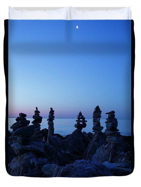 Sunrise - Rye, New Hampshire Duvet Cover