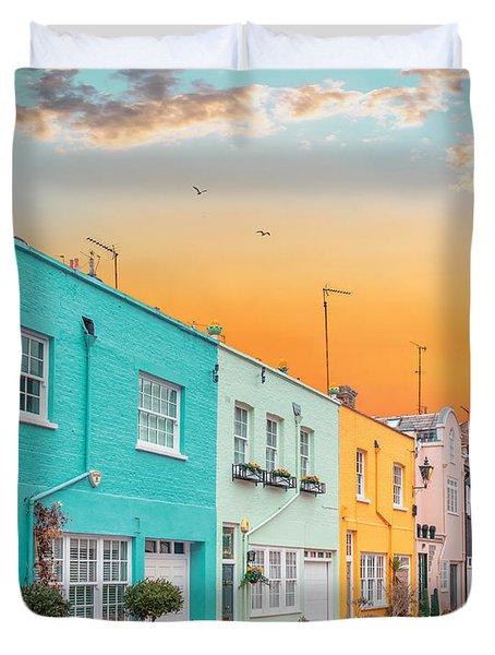 Sunset Street Duvet Cover