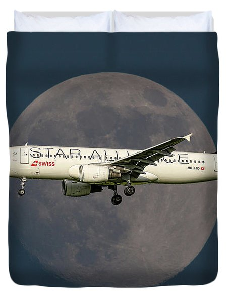 Swiss Star Alliance Livery Airbus A320-214 Duvet Cover