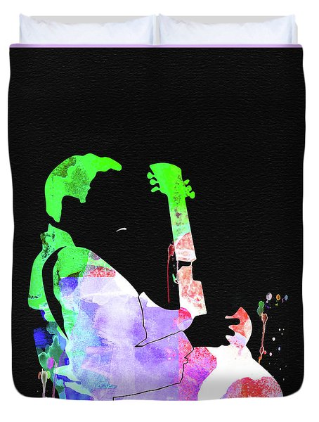 T-bone Walker Watercolor Duvet Cover