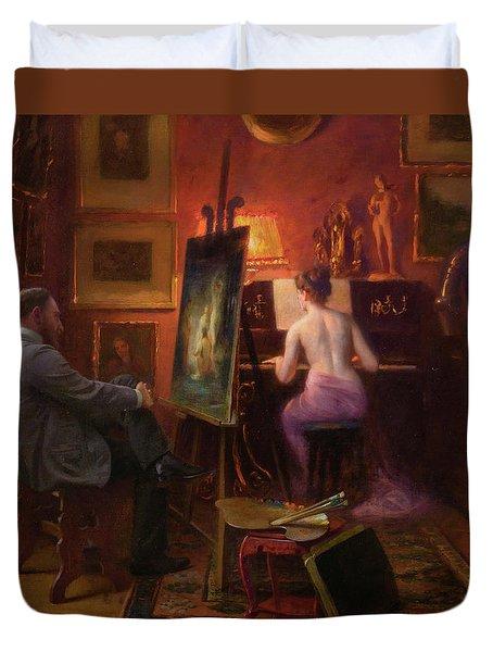 The Artist's Model Duvet Cover