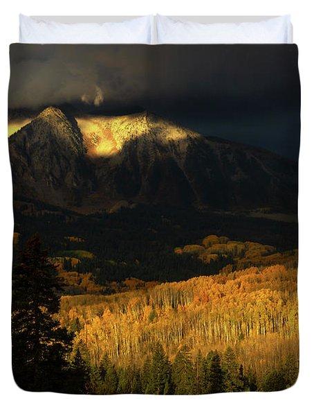 The Golden Light Duvet Cover