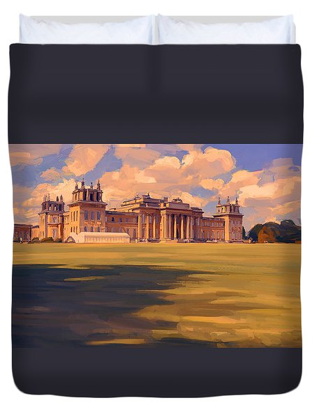 The White Party Tent Along Blenheim Palace Duvet Cover