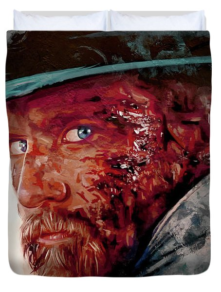 The Wounded Cowboy Duvet Cover