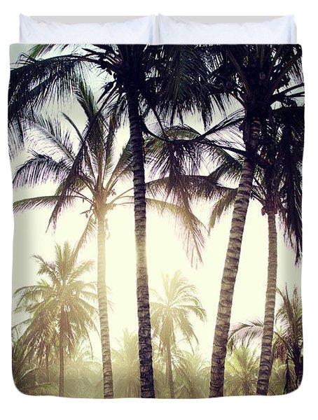 Ticla Palms Duvet Cover