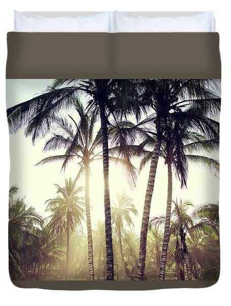 Ticla Palms Duvet Cover