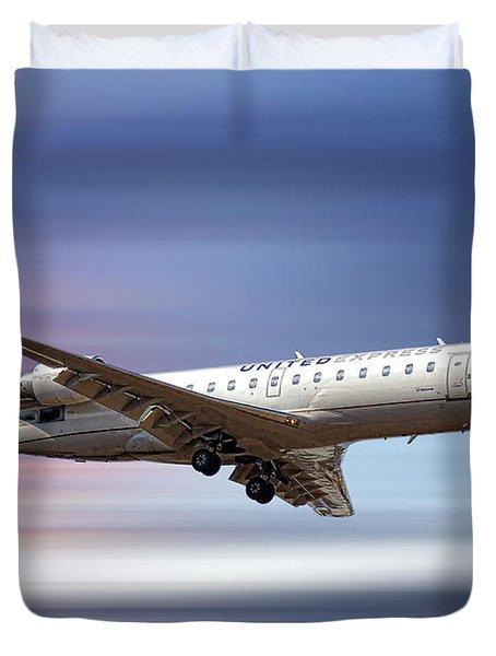 United Express Bombardier Crj-200lr Duvet Cover