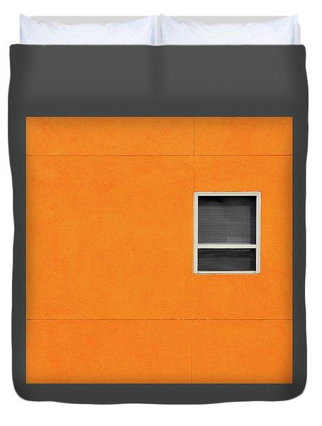 Very Orange Wall Duvet Cover