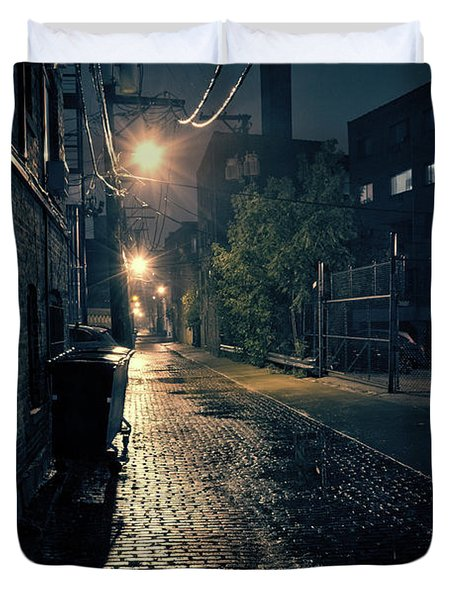 Vintage Chicago Alley Duvet Cover