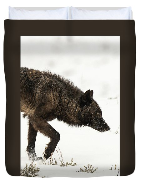 Duvet Cover featuring the photograph W46 by Joshua Able's Wildlife