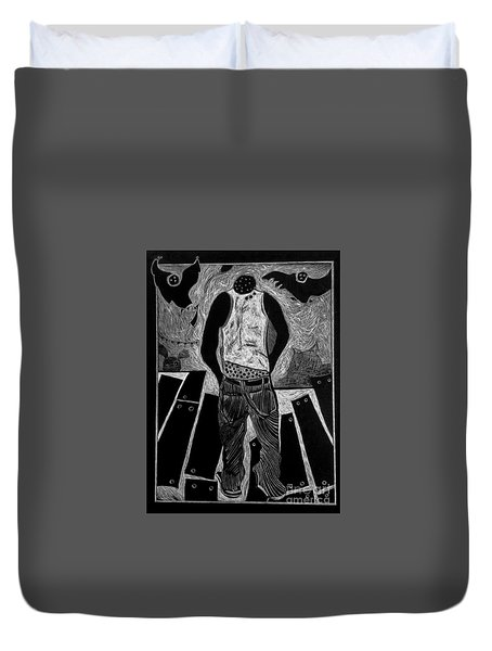 Walking While Black. Duvet Cover