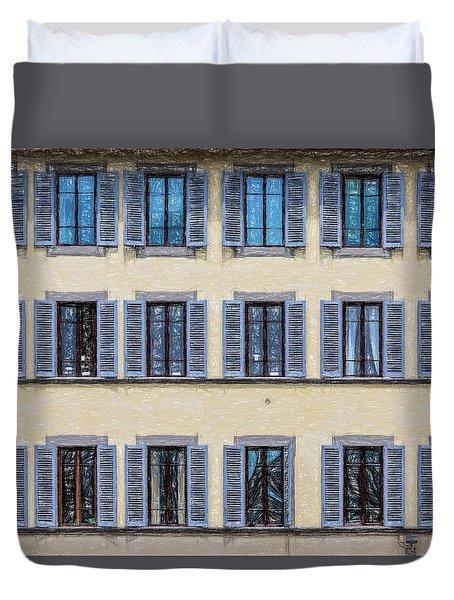 Wall Of Windows II Duvet Cover