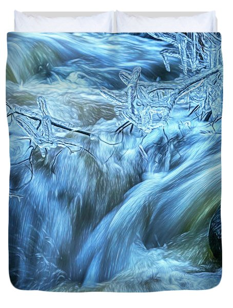 Water And Ice 2 Duvet Cover