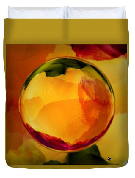 Watercolor Glass Marble  Duvet Cover
