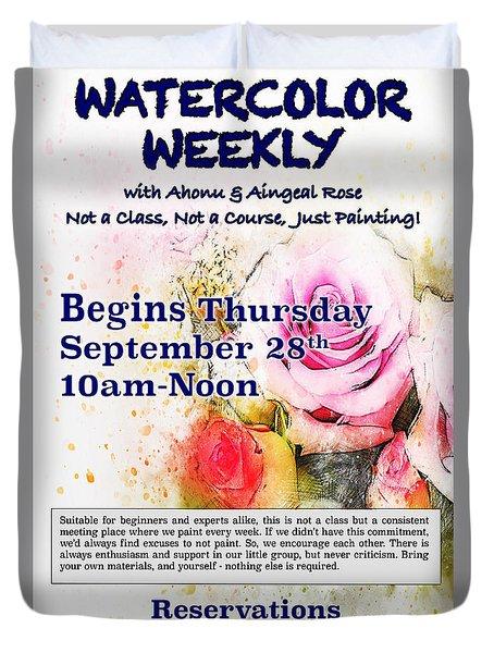 Watercolor Weekly Duvet Cover