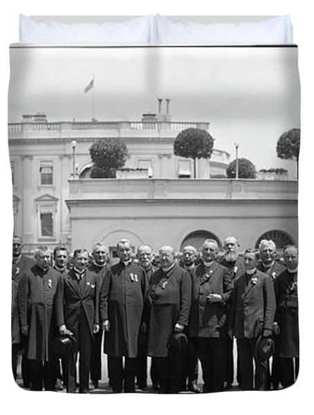 White House Reception By President Duvet Cover