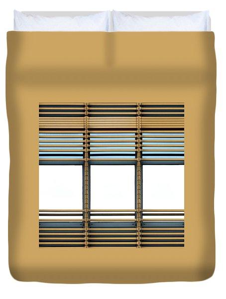 White Windows Duvet Cover