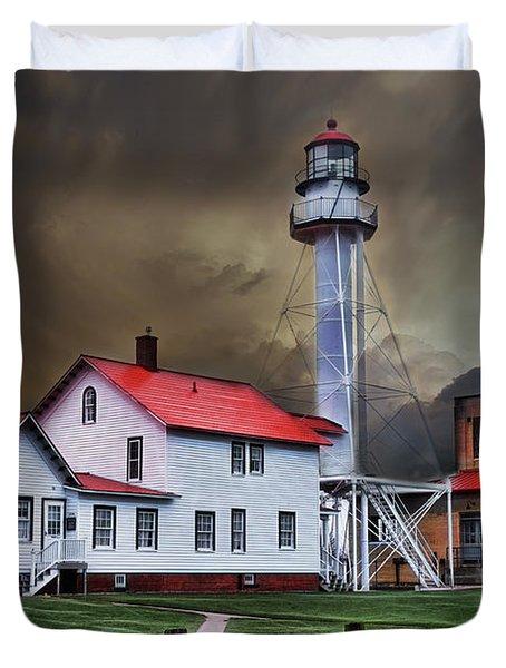 Whitefish Point Lighthouse Duvet Cover