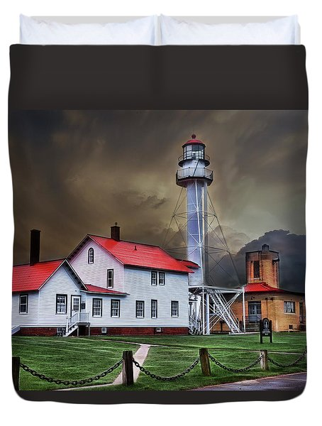 Whitefish Point Lighthouse Duvet Cover