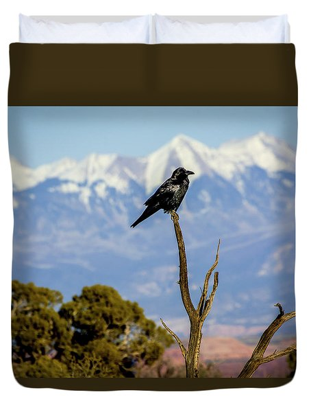 Duvet Cover featuring the photograph Winter Is Coming by David Morefield