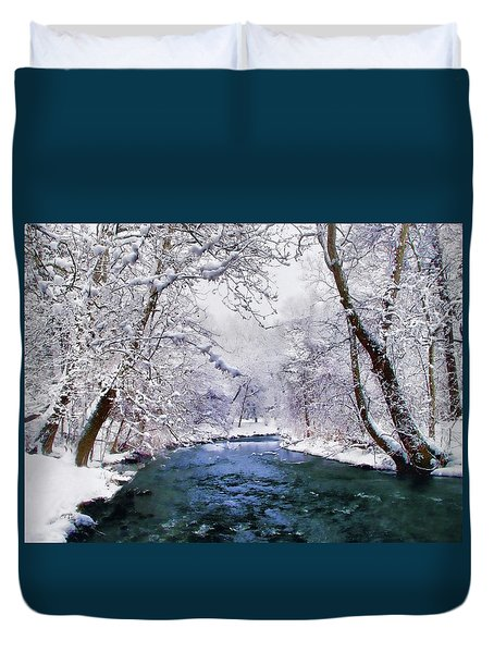 Winter White Duvet Cover